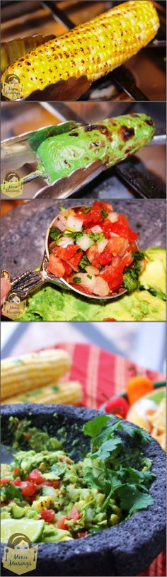 Fire Roasted Corn Guacamole - my favorite guac recipe of all time!  Perfect for that big football game!  Step-by-step photos. <3