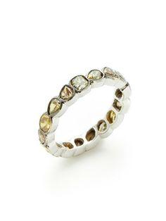 Multicolor Diamond Station Band Ring by Amrapali at Gilt; similar rhythm to wedding band