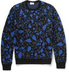Acne Studios - Mayer O Patterned Merino Wool Sweater|MR PORTER