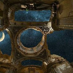 A ghost town destroyed during the Spanish Civil War, Belchite, Spain