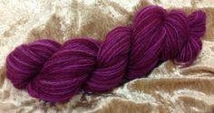 Qiviut yarn 10%merino wool hand spun hand dyed lace 130 yds pink