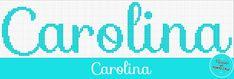 Nomes em Ponto Cruz: Carolina - Nomes em Ponto Cruz