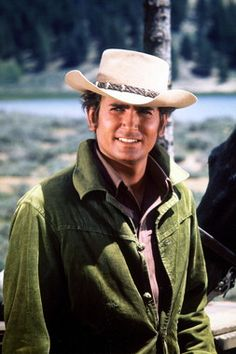 Michael Landon as Little Joe Cartwright. I've been falling for good looking cowboys since I was 4.