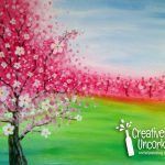 Private Party for Cassie Salberg - Creatively Uncorked Easy Canvas Painting, Acrylic Painting For Beginners, Beginner Painting, Painting Videos, Canvas Art, Blossom Trees, Cherry Blossoms, Canvas And Cocktails, Cherry Blossom Painting
