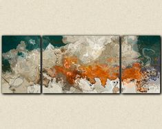 Extra Large triptych abstract art 30x80 to 34x90 by FinnellFineArt, $475.00