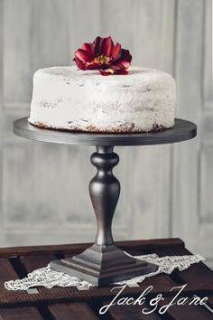 Antikolt ezüst fa tortatál - Princess2   Jack&Jane tortaállványok Cake Stands, Wood Cake Stands