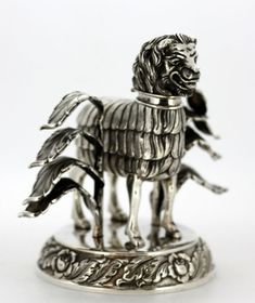 Online veilinghuis Catawiki: Silver lion inkwell, the Netherlands, 1934