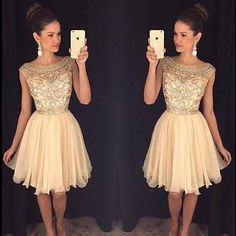 AH006 Cute Homecoming Dresses,Sparkly Beaded Homecoming Dresses,2017 Homcoming Dresses,Short Prom Dresses