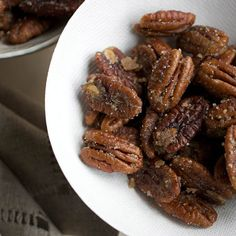 Ginger-Spiced Pecans | Pecan halves sautéed with butter, sugar, and ground ginger are positively addictive.