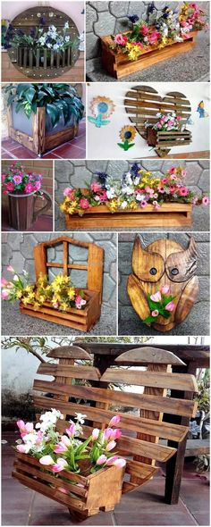 Using the old wooden wasted pallet planks for the crafting of these wood pallet planter arts seems much effective and elegant piece of artwork to make a part of your home for decoration purposes. Different designs of planters are given below so that you can easily choose the best for your place.  #pallets #woodpallet #palletfurniture #palletproject #palletideas #recycle #recycledpallet #reclaimed #repurposed #reused #restore #upcycle #diy #palletart #pallet #recycling #upcycling #refurnish