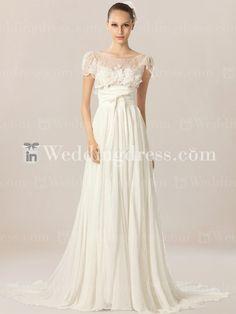 Simple Casual Beach Wedding Dress. Re-pin if you like. Via Inweddingdress.com #weddingdresses