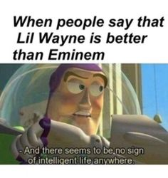 Not a wayne hater, I love many of his songs they are quite a stress busters, but c'mon we all can say that eminem is on just another level where nobody can reach... PS MGK is the one of very few rappers who is as close as anyone can get to eminem's level imo...