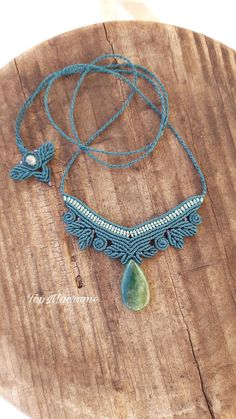 Indian Agate Necklace, Macrame Necklace, Green Necklace by TopMacrame on Etsy Macrame Necklace, Agate Necklace, Green Necklace, Turquoise Necklace, Macrame Jewelry, Indian Agate, Sliding Knot, Micro Macrame, Fabric Jewelry