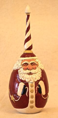 KATHY RAVENBERG Artist,  Original hand carved Santa