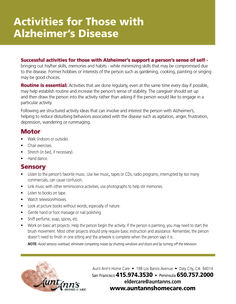 Activities for Those with Alzheimer's Disease #alzheimers #activities