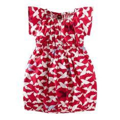 Love the random/hidden blue birds.  And the cut of the dress would be very flattering on my girls. #TeaSummer