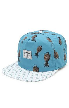 A PacSun.com Online Exclusive! PacSun presents the Lira Pineapples Snapback Hat. This comfortable cap comes with a casual fit and pineapple print.   	Lira logo on front 	White adjustable snapback  	Flat print bill 	One size fits most 	Spot clean 	100% polyester 	Imported