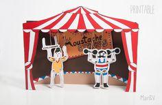 Marionette stampabili - The Moustache Circus di Mar&Vi su DaWanda.com