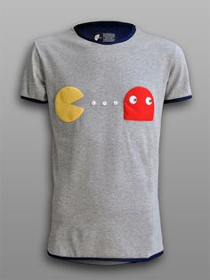 Patch-Man - #πλAy #play_shirts #pacman #tshirt #patchwork #80s #retro #arcade #video #games #gamers #shop #ghost