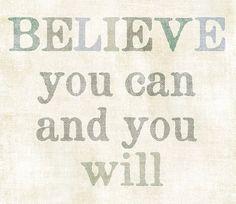 CREER EN TI: Siempre creo en mi misma, a pesar de que en ocasiones la gente me diga lo contrario. Creo que puedo lograr cualquier cosa que me proponga mientras yo siga creyendo que puedo. El límite de una persona esta en su forma de pensar.