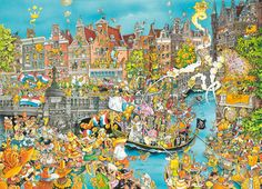 King Amsterdam King's Day Jigsaw Puzzle Pieces) - Brand New
