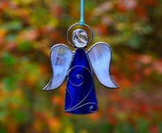 Tiffany angel, stained glass angel, Christmas glass ornament, Christmas ornament, glasssuncatcher, Baptism gift, glass angel gift for mother