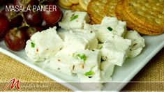 """Need a simple healthy appetizer that is sure to be enjoyed by all? Try serving my """"Masala Paneer Cubes"""" at your next get together! It is homemade paneer mixed with a variety of spices. Serve with crackers, or fruit plate. Masala paneer can be used for many different ways, like paneer pakoras, paneer paratha."""