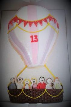 Hot Air Balloon Cake https://www.facebook.com/cabrellicakes