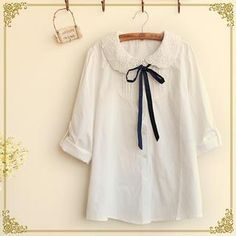Buy Fairyland Long-Sleeved Lace Collar Blouse at YesStyle.ca! Quality products at remarkable prices. FREE SHIPPING to Canada on orders over CA$45.
