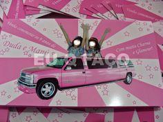 Limousine Rosa - Brindes e Lembrancinhas: Convite Limousine Rosa