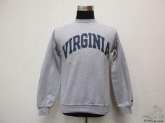 Champion Virginia Cavaliers Crewneck Sweatshirt sz S Small University NCAA Grey #Champion #VirginiaCavaliers