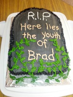 Brads 40th Birthday Cake With Over The Hill Theme 50th Party Ideas For