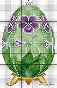 Faberge egg cross stitch pattern