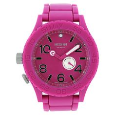 Nixon Women's 51-30 Quartz Pink Band Pink Dial