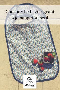 Couture: grand bavoir #jemangetoutseul - oh!Ptits Mômes