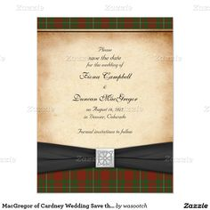 MacGregor of Cardney Wedding Save the Date 4.25x5.5 Paper Invitation Card