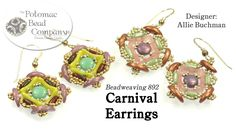 """This video tutorial from The Potomac Bead Company teaches you how to make Allie Buchman's """"Carnival Earring"""" design. Find a list of supplies in the descripti..."""