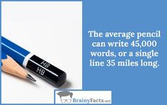 Random Facts : Average pencil | did you know