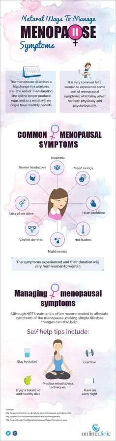 Natural Ways To Manage Menopause Symptoms - Menopause is a natural part of a woman's life. During this time her ovaries will stop producing eggs, eventually resulting in her no longer getting a monthly period. The symptoms of menopause can be rough on a woman and can affect her both physically and psychologically.