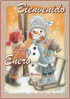 Kaarina Toivanen ~ We Will Build a Snowman Christmas Clipart, Christmas Snowman, Christmas Ornaments, Xmas, Illustration Noel, Christmas Illustration, Frosty The Snowmen, Cute Snowman, Christmas Scenes