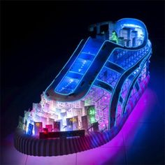 A 3D Neon sneaker that boasts urban Japanese icons...and Godzilla. See if you can find him.
