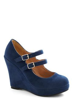 Host of All Wedge. Whats the aspect of party-hosting you love most of all? #blue #modcloth
