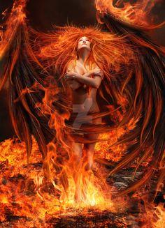 Image IMG 8839 in Fantasy album Fantasy Kunst, Dark Fantasy Art, Fantasy Women, Fantasy Girl, Fantasy Artwork, Guerrero Dragon, Ange Demon, Fire Art, Angels And Demons