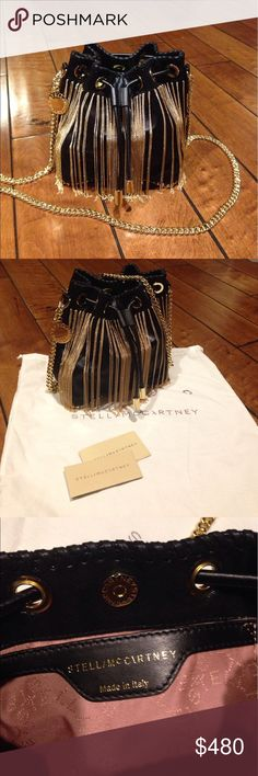Stella McCartney Falabella Chain Fringed Bucket B Authentic, great condition, looks like new Stella McCartney Bags Crossbody Bags