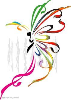 tattoo butterflies, tattoos of butterflies, color tattoos, colorful butterfly tattoos, colorful wing tattoo