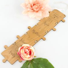 Piece your family together with one of our Engraved Wooden Puzzle Hangers. This puzzle piece hanger is precision laser cut from beautiful honey brown wood and is the perfect Mother's Day gift. #personalized #personalised #personal #custom #mothersday #mum #kids #mothersdaygift #love #thoughtful #goodprice #mum #mums #pflovesmums #gift #love #kind #mumtobe #firstmothersday #keepsake #specialgift #sentimental #family #familyfirst