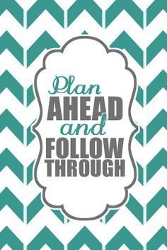 "Typography -- ""Plan Ahead"""