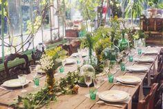 décoration table mariage botanique