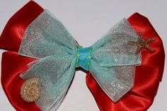 Disney Princess Ariel Mermaid Hair Bow Girls Disney Hair Bow Disney Mermaid Hair Bow Handmade Disney Hair Bow by RachelsHairBowtique on Etsy