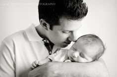 2 month old baby and father portrait photography